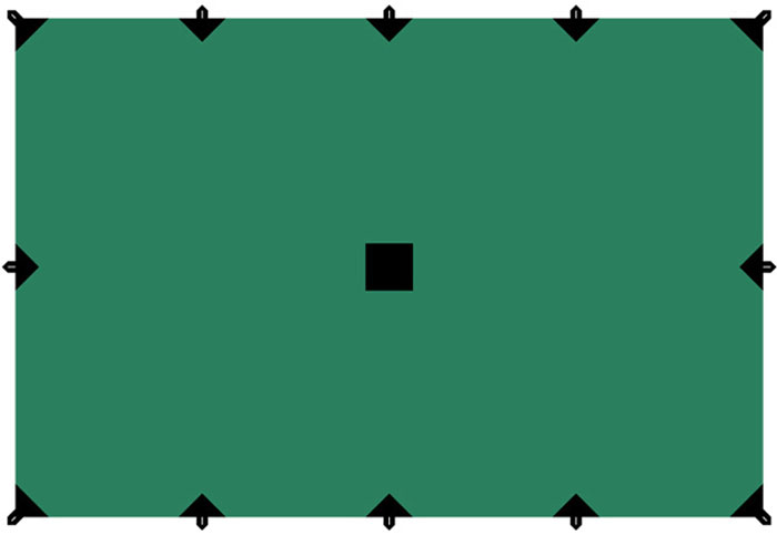 Тент Tramp, цвет: зеленый, 4 х 6 м тент туристический talberg цвет зеленый 4 м х 4 м