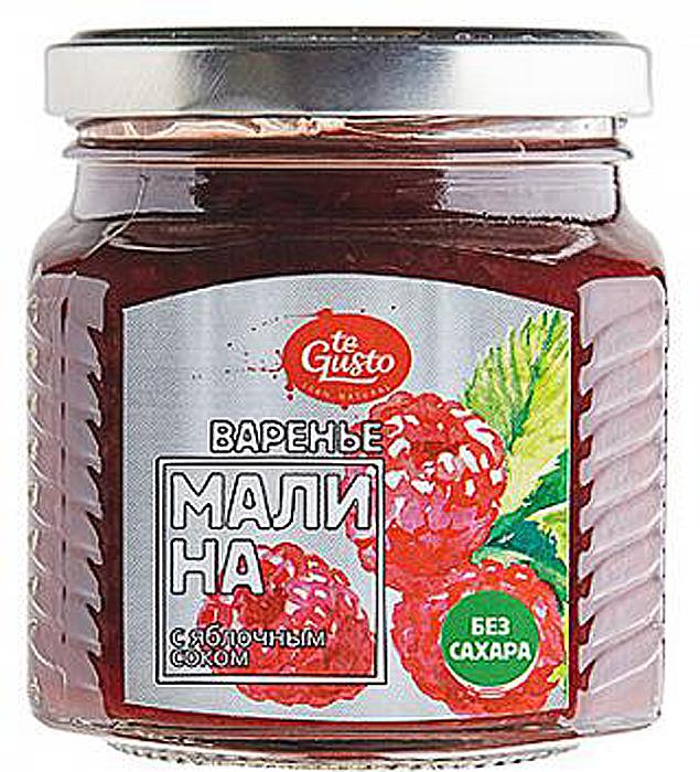 Варенье из малины с яблочным соком te Gusto, 300 г варенье из малины и вишни te gusto 470 г