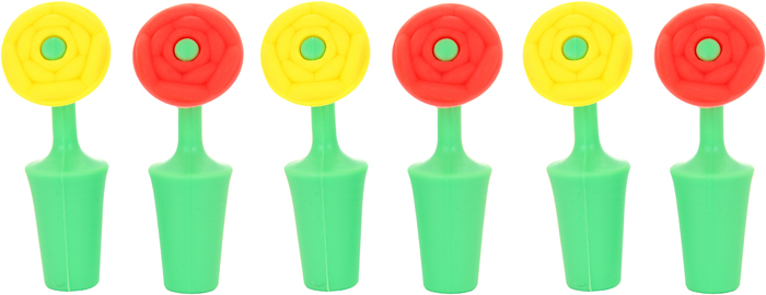Набор пробок для бутылок Elan Gallery Цветок, 2,5 х 2,5 х 8,5 см, 2 шт набор пробок для бутылок bradex набор пробок для бутылок page 8