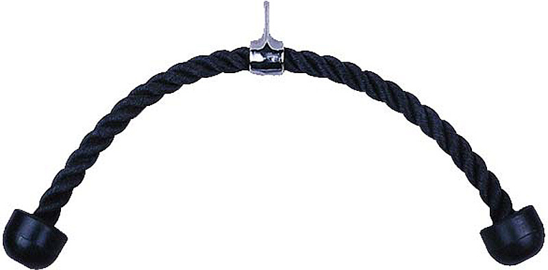 Рукоятка-канат для тяги на трицепс Hawk 0100 HKSZ, двойной, цвет: черный