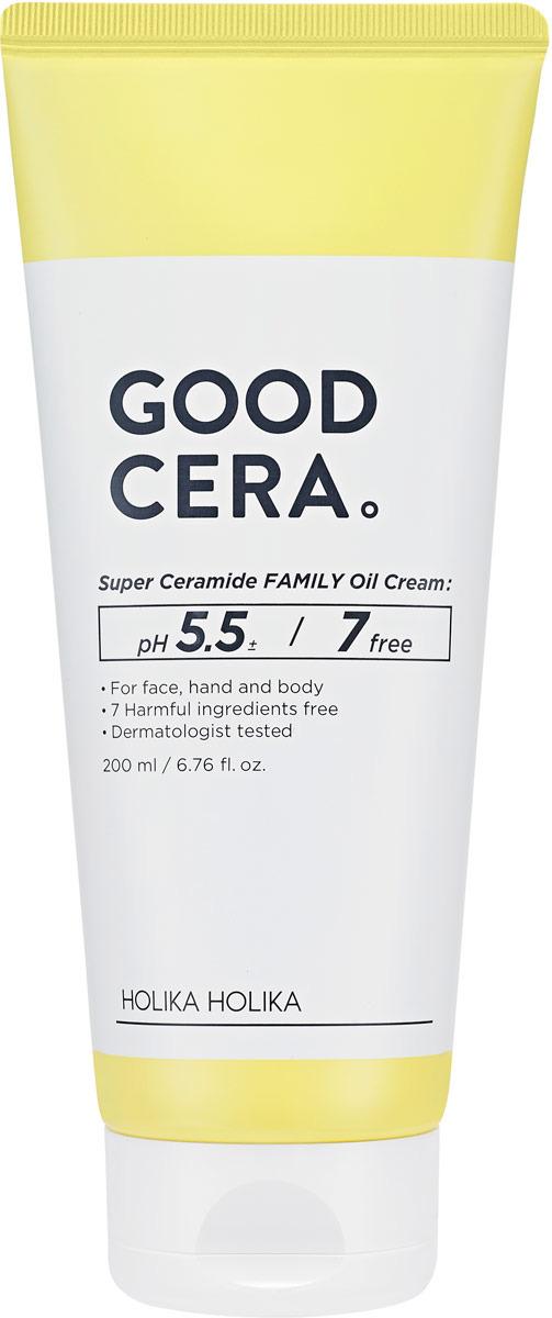 Крем для ухода за кожей Holika Holika Good Cera Super Ceramide Family Oil Cream, 200 мл holika holika бальзам масло для губ гуд кера супер керамид good cera super ceramide lip oil balm 10 г