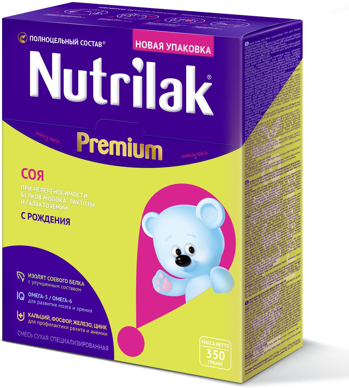 Nutrilak Premium соя смесь с 0 месяцев, 350 г