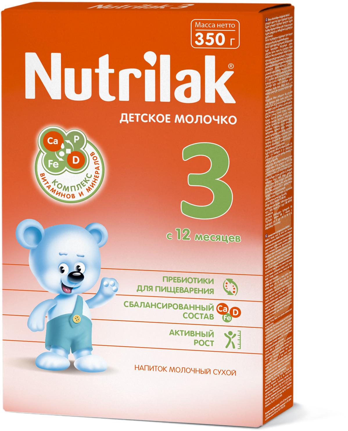 Nutrilak 3 молочко детское с 12 месяцев, 350 г
