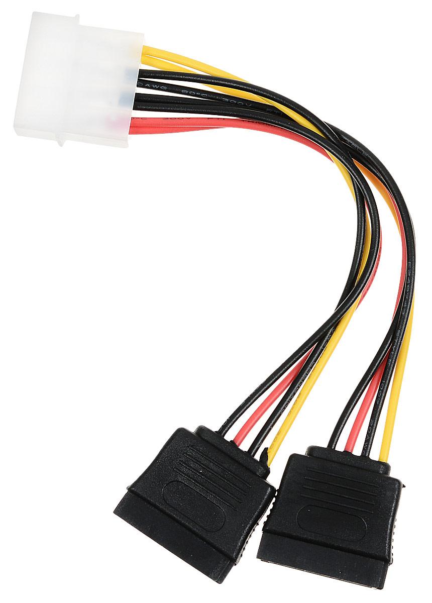Cablexpert CC-SATA-PSY кабель питания SATA molex 4pin -2x Sata 15pin (0,15 м) cablexpert разветвитель питания sata page 3 page 4 page 4