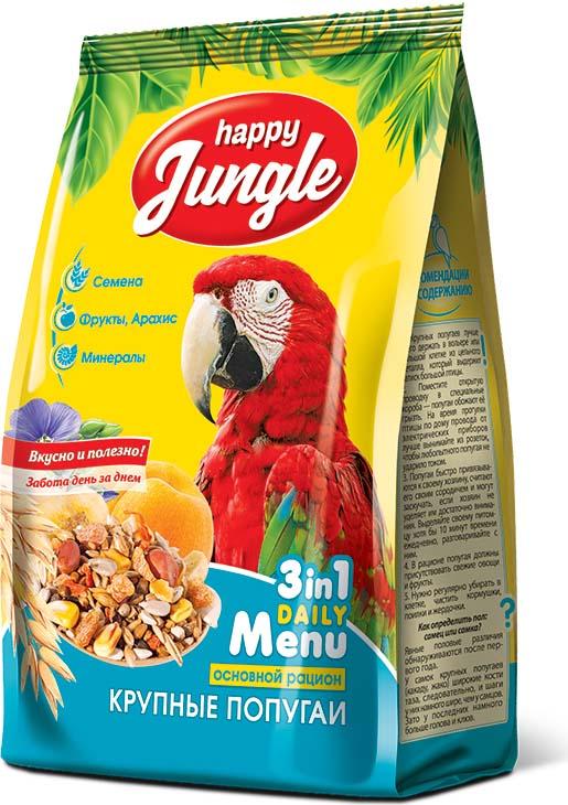 Корм сухой Happy Jungle для крупных попугаев, 500 г