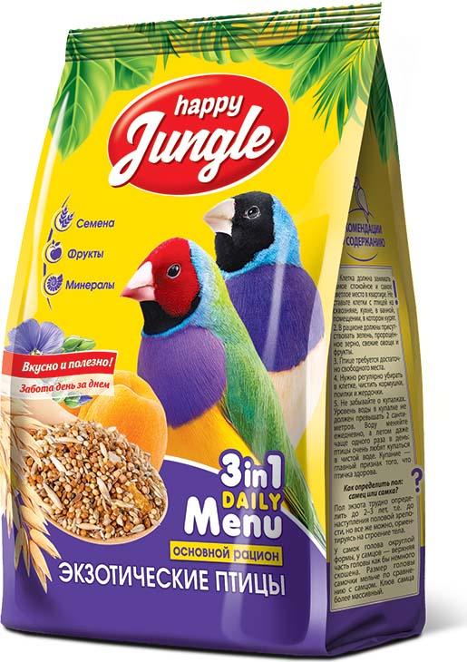 Корм сухой Happy Jungle для экзотических птиц, 500 г