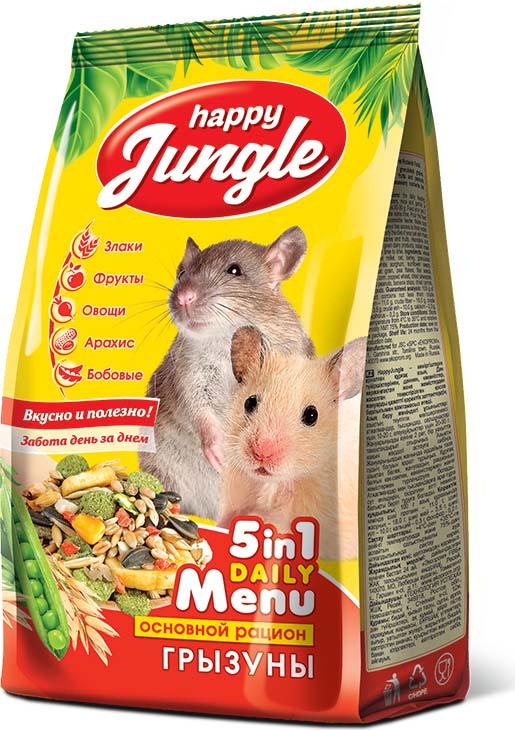 Корм сухой Happy Jungle для грызунов, 350 гJ109Happy Jungle – сухой корм для грызунов. Сбалансированная смесь из зерна и зерновых гранул, овощей, фруктов и арахиса обеспечит животное всеми необходимыми питательными веществами. Злаки и бобовые - составляют основу рациона, обладают высокой питательной и энергетической ценностью. Легко усваиваются и значительно улучшают обменные процессы в организме. Фрукты и овощи - прекрасное дополнение к основному рациону, насыщают организм витаминами и повышают иммунитет. Арахис - Источник белка и жирных кислот, минеральных веществ и витаминов. Прекрасный антиоксидант, замедляет старение организма. Рекомендации по кормлению: суточная доза корма для хомяков, мышей, песчанок составляет 10-20 г, для крыс 20-30 г. Кормите питомца 2 раза в день в одно и то же время. Насыпьте корм в легкодоступную кормушку. Следите за тем, чтобы питомец всегда имел доступ к свежей воде. Помимо сухого корма рацион животного можно разнообразить свежей зеленью, овощами и фруктами. Хомякам и крысам можно периодически давать молочные продукты, вареное мясо или рыбу. Условия хранения: хранить при температуре от 4 °с до 35 °с и относительной влажности воздуха не более 75%. Срок годности: 24 месяца с даты изготовления.