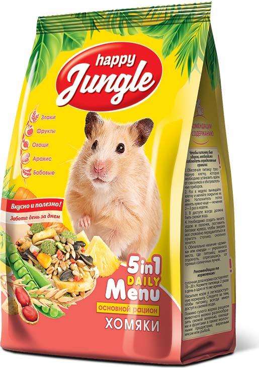 Корм сухой Happy Jungle для хомяков, 400 г