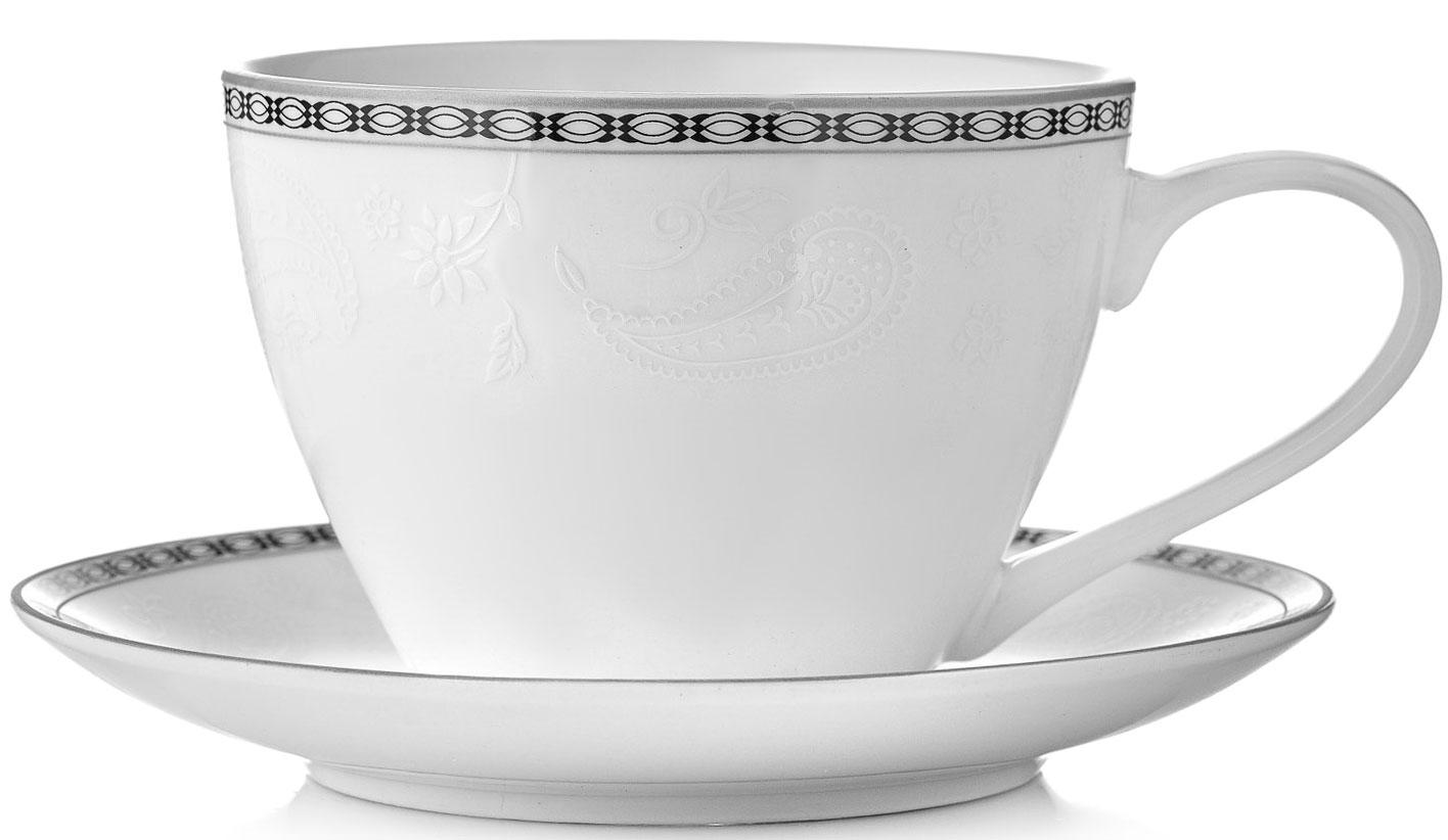 "Чайная пара Esprado ""Arista White"", цвет: белый, 2 предмета"