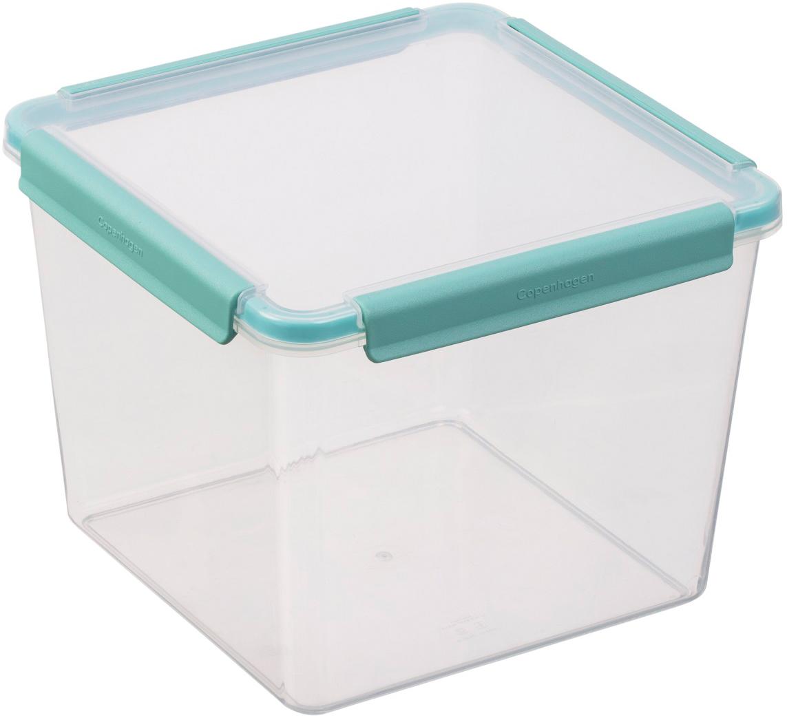 Контейнер пищевой Plast team Copenhagen, цвет: мятный, квадратный, 5,2 лPT1528МТ-6Взять с собой порцию снеков, положить в двойную емкость раздельно салат и гарнир, хранить сырную нарезку в плоской низкой ёмкости в холодильнике – все это про емкости Copenhagen. Еда в емкостях надежно упакована благодаря силиконовому профилю и замкам-защелкам. Емкости сохраняют свежесть продуктов благодаря плотной герметичной крышке. Еду можно разогревать непосредственно в контейнере с приоткрытой крышкой.