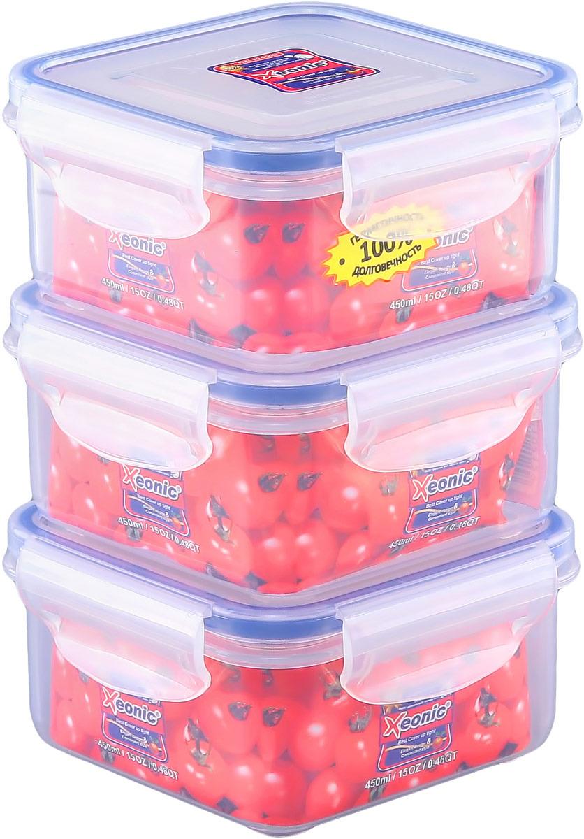 Набор контейнеров Xeonic, квадратных, 450 мл, 3 шт. 810003_3