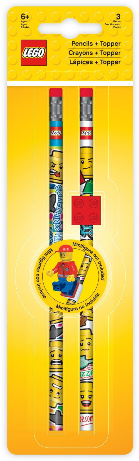 Набор карандашей чернографитных LEGO Iconic, с насадкой, 2 шт pipedream vibrating mini sex ball черный с телесной насадкой мини мяч с вибромассажером и съемной насадкой