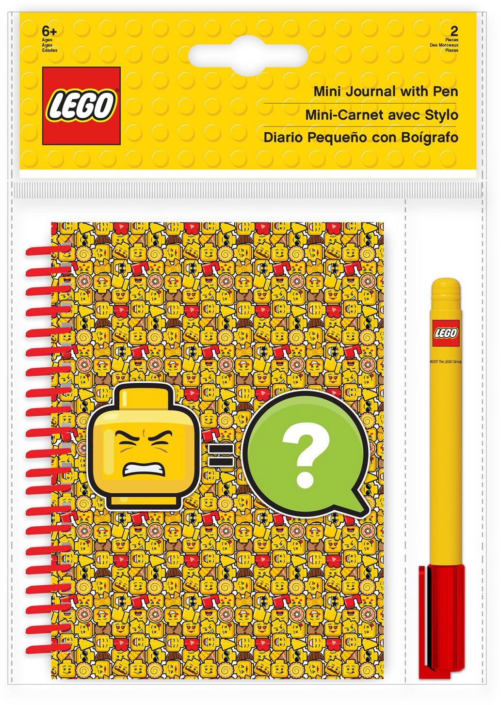 Блокнот LEGO Iconic, с ручкой, 100 листов в линейку51144Набор состоит из блокнота на спирали (100 листов, линейка) и гелевой ручки. Блокнот можно использовать в качестве ежедневника, книги для написания сочинений или важных событий.
