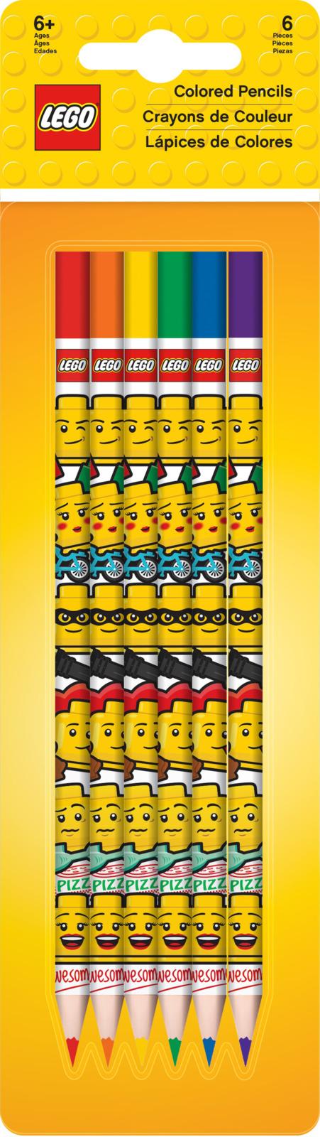 Набор цветных карандашей LEGO Iconic, 6 шт