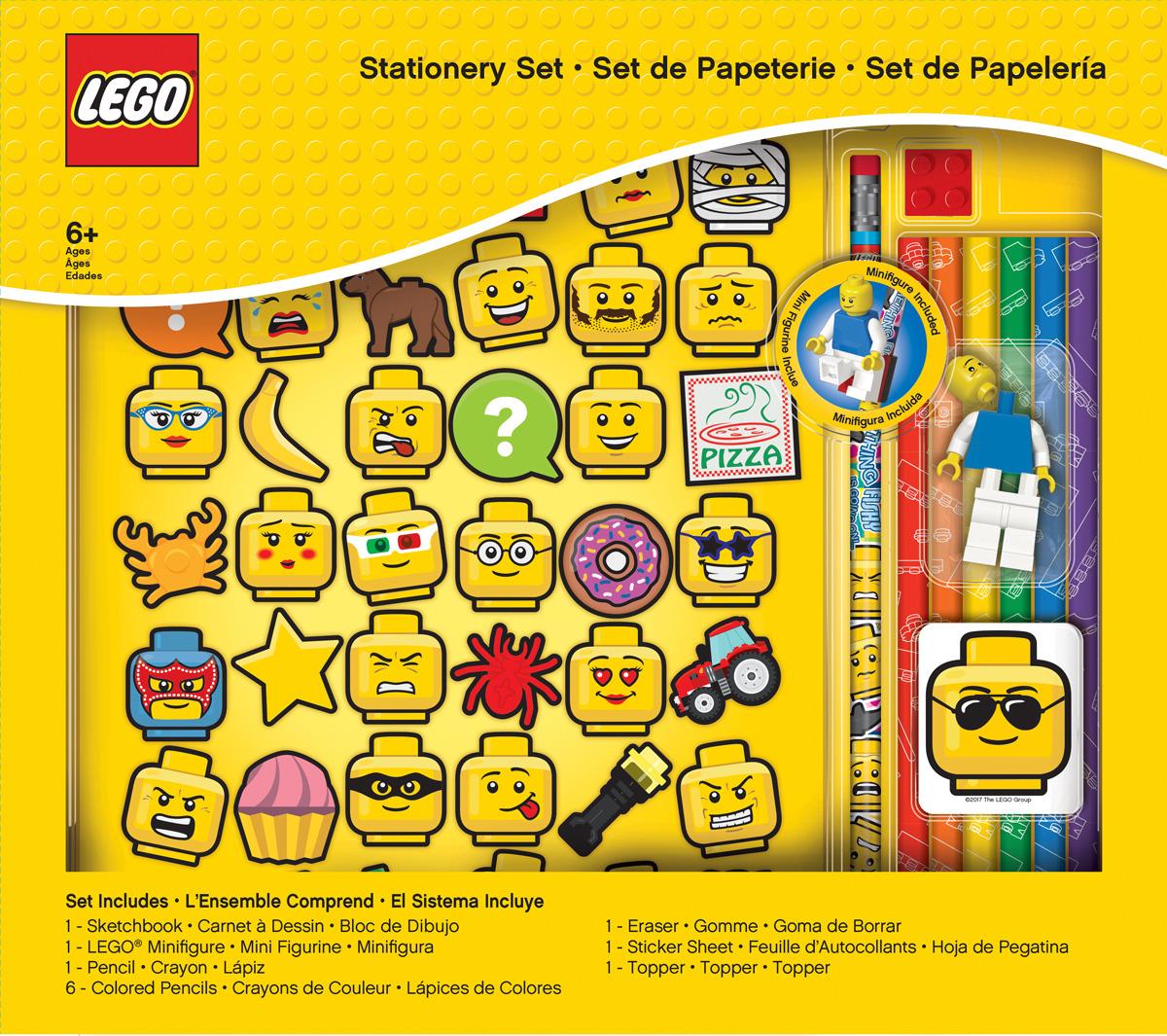 Канцелярский набор LEGO Iconic, 11 предметов канцелярский набор домик цвет салатовый 6 предметов 679326