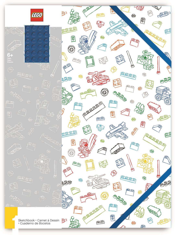 Альбом для рисования LEGO, цвет: белый, синий, А4, 96 листов