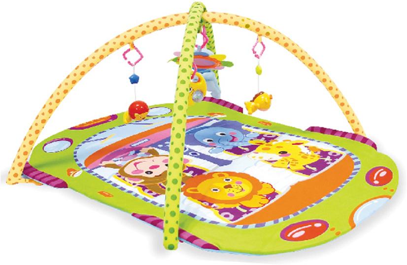 Развивающий коврик Lorelli Toys Автобус, 102 х 74 см развивающий коврик lorelli toys развивающий коврик lorelli toys с интерактивным столиком 105 х 65 см 1030038