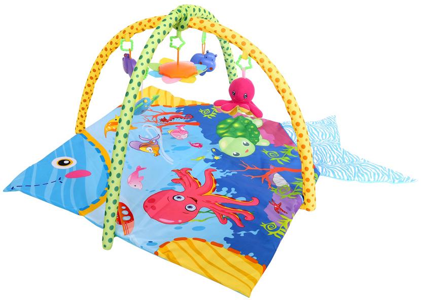 Развивающий коврик Lorelli Toys Океан, 115 х 115 см развивающий коврик lorelli toys развивающий коврик lorelli toys с интерактивным столиком 105 х 65 см 1030038