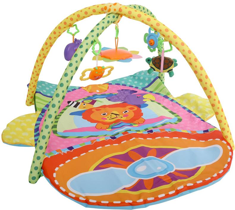 Развивающий коврик Lorelli Toys Самолет, 97 х 96 см развивающий коврик lorelli toys развивающий коврик lorelli toys с интерактивным столиком 105 х 65 см 1030038