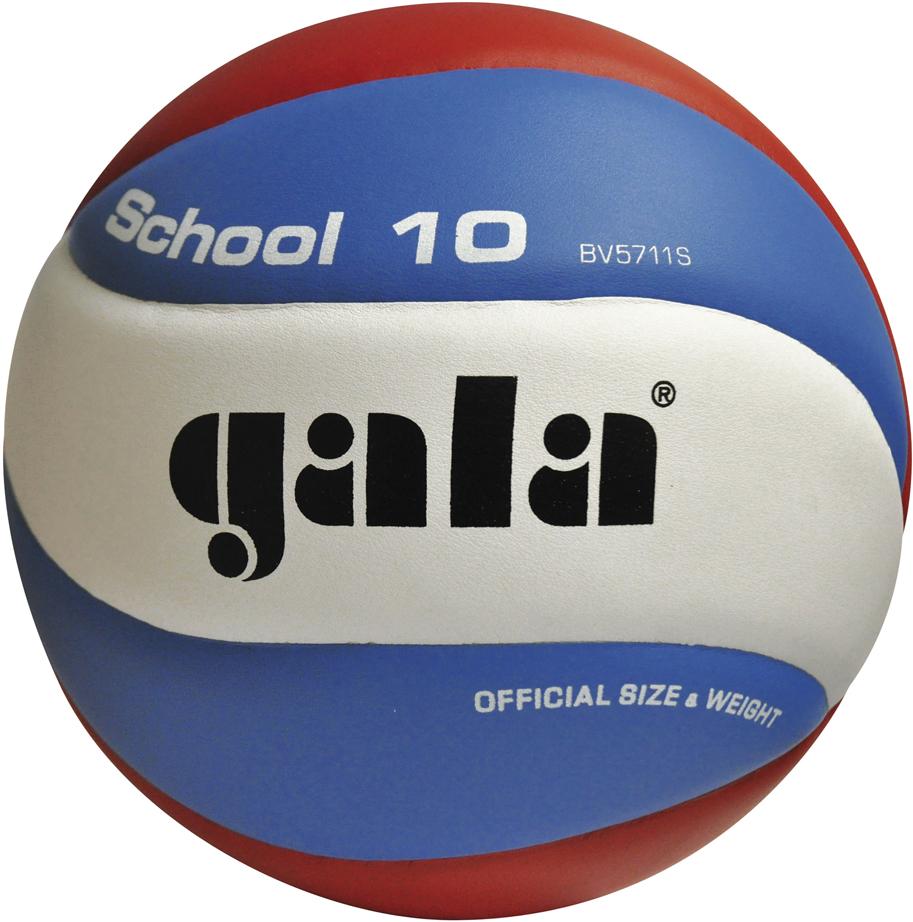 Мяч волейбольный Gala School , цвет: белый, синий, красный. Размер 5 мяч волейбольный gala academy bv5181s размер 5 цвет бело сине красный
