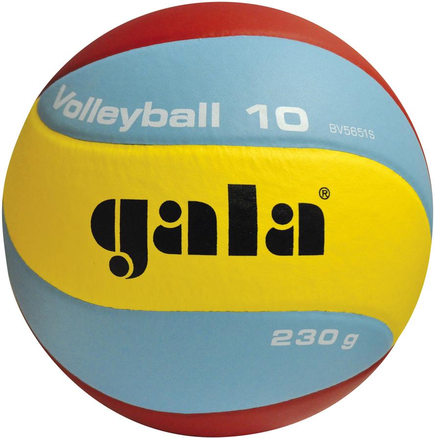Мяч волейбольный Gala Volleyball, цвет: желтый, синий, красный. Размер 5 музыка младше 12 лет