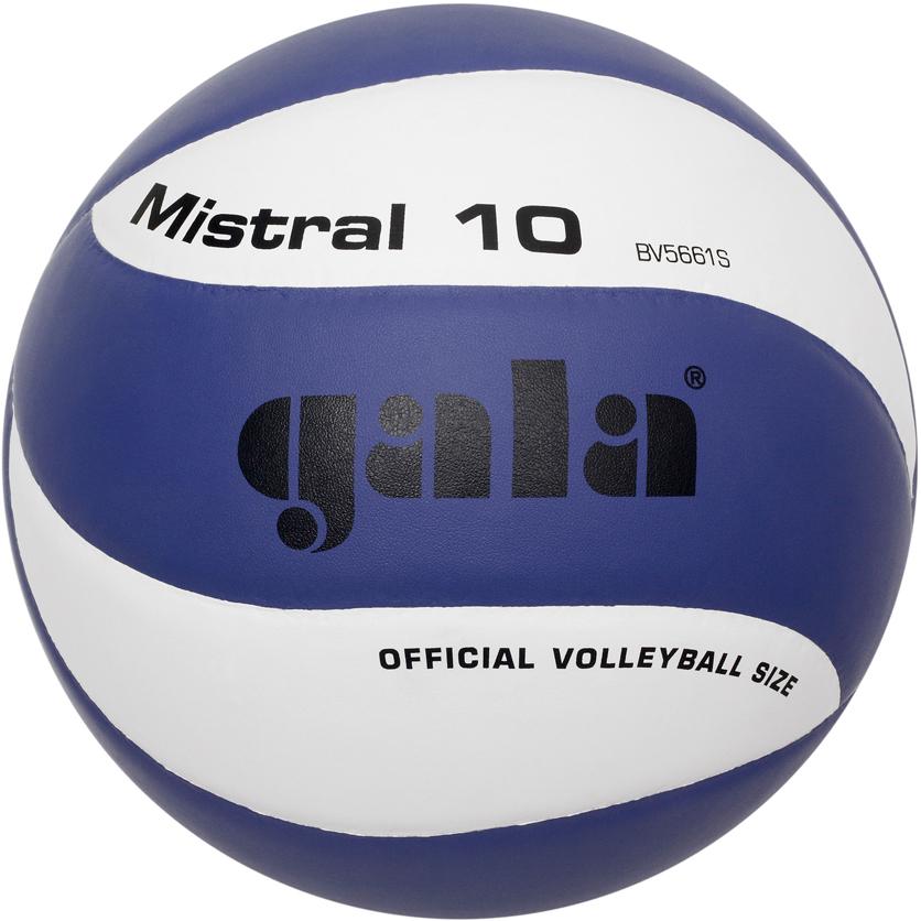 Мяч волейбольный Gala Mistral, цвет: синий, белый. Размер 500026622Предназначен для школ и отдыха. Окружность и вес соответствуют официальным техническим параметрам.
