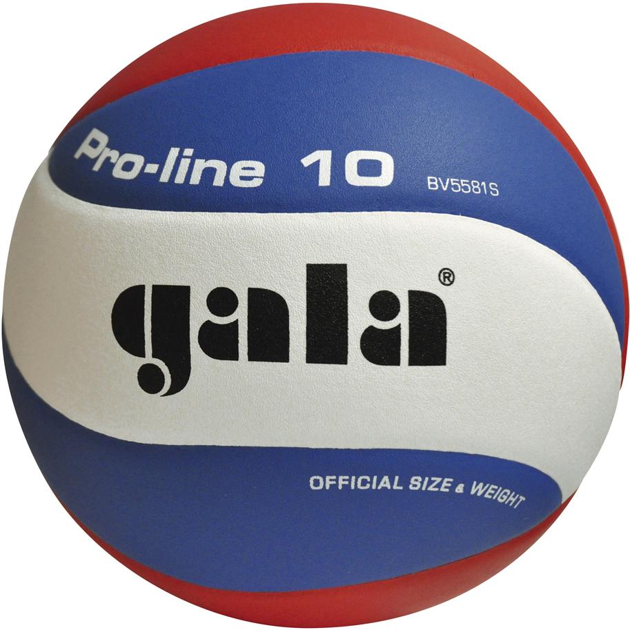 Мяч волейбольный Gala Pro Line, цвет: белый, синий, красный. Размер 5. 26616 мяч волейбольный gala academy bv5181s размер 5 цвет бело сине красный