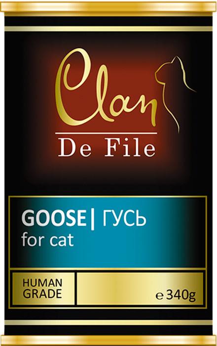Корм консервированный Clan De File, для кошек, с гусем, 340 г