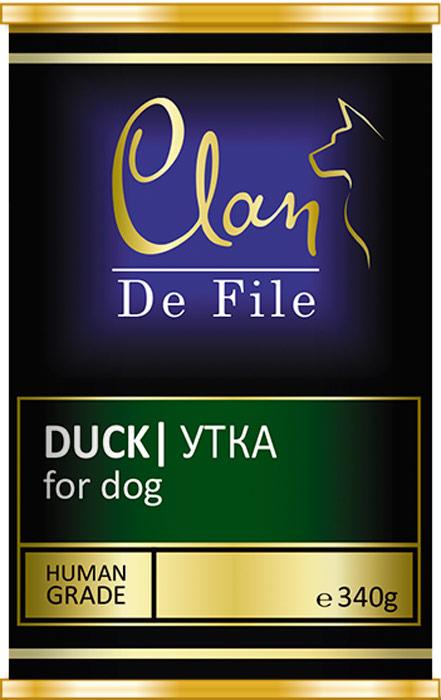 Корм консервированный Clan De File, для собак, с уткой, 340 г