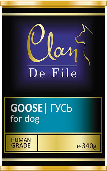 Корм консервированный Clan De File, для собак, с гусем, 340 г