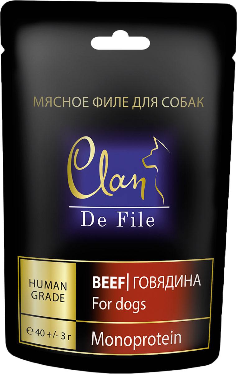 Лакомство Clan De File, для собак, с говядиной, 40 г