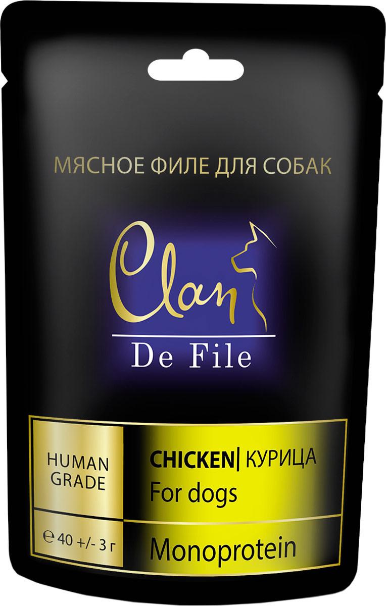 Лакомство Clan De File, для собак, с курицей, 40 г