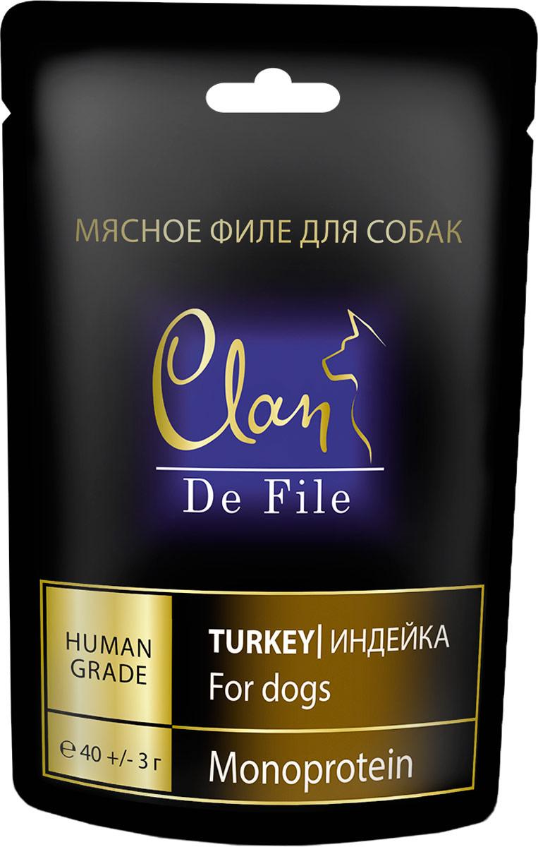 Лакомство Clan De File, для собак, с индейкой, 40 г