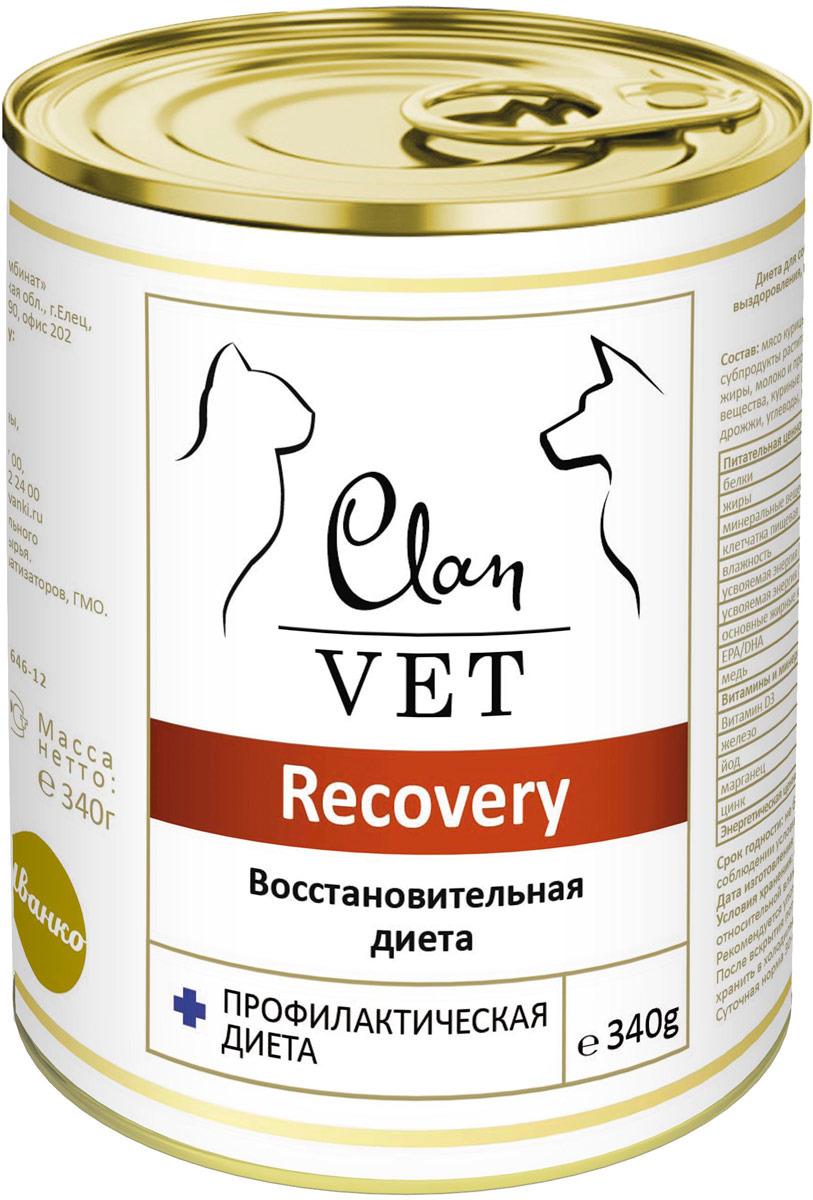 Корм консервированный Clan Vet Recoveru, для собак и кошек, диетический, 340 г