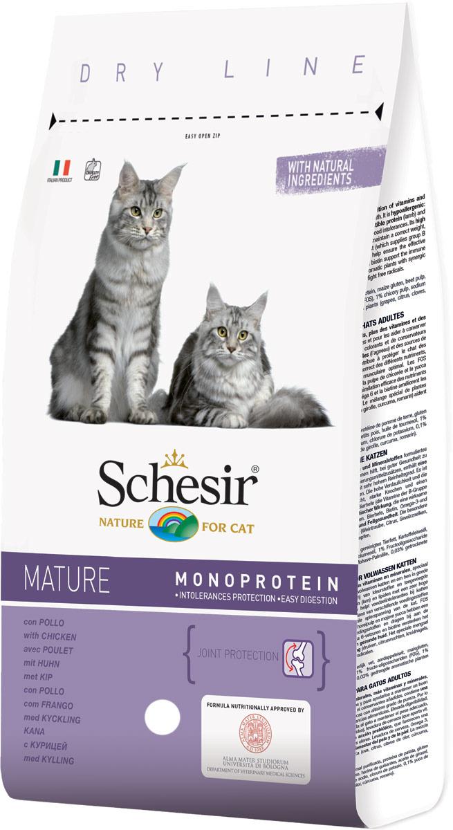 Корм сухой Schesir, для пожилых кошек, 400 г корм сухой schesir для длинношерстных кошек 400 г