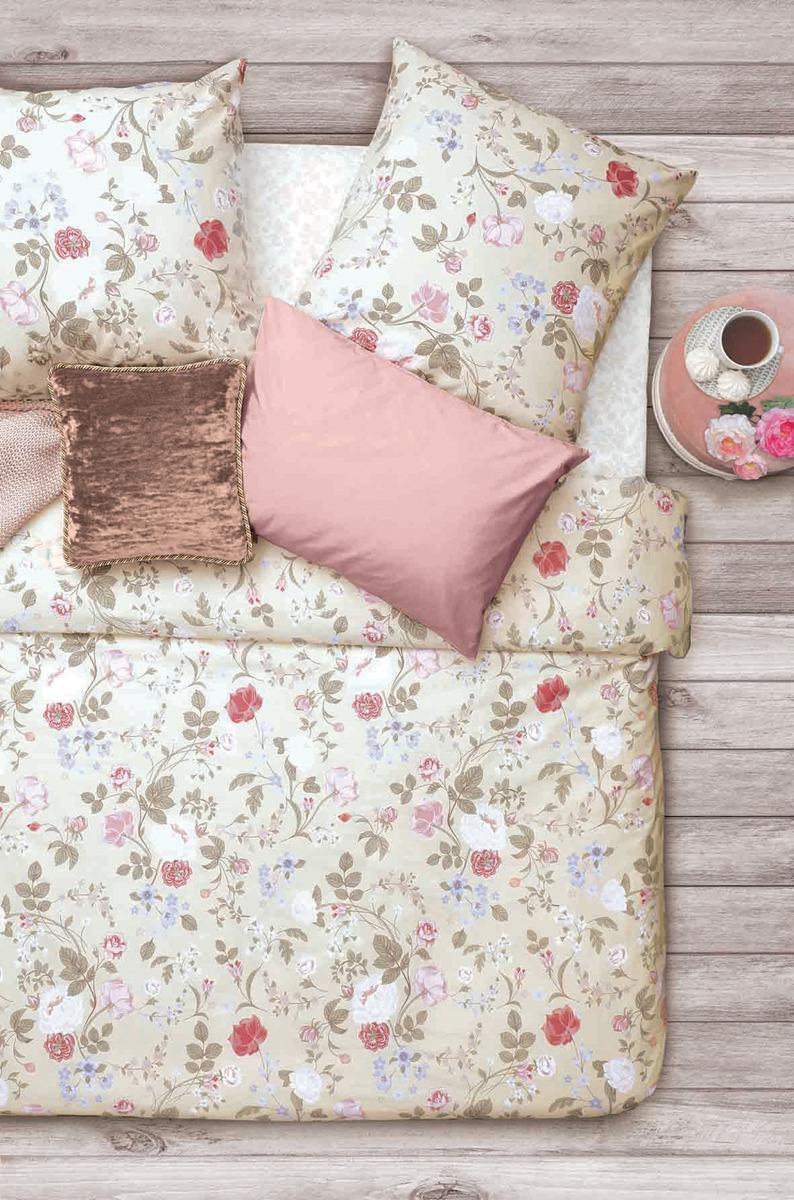Комплект постельного белья Sova & Javoronok Флора, евро, наволочка 70x70 наволочка sova