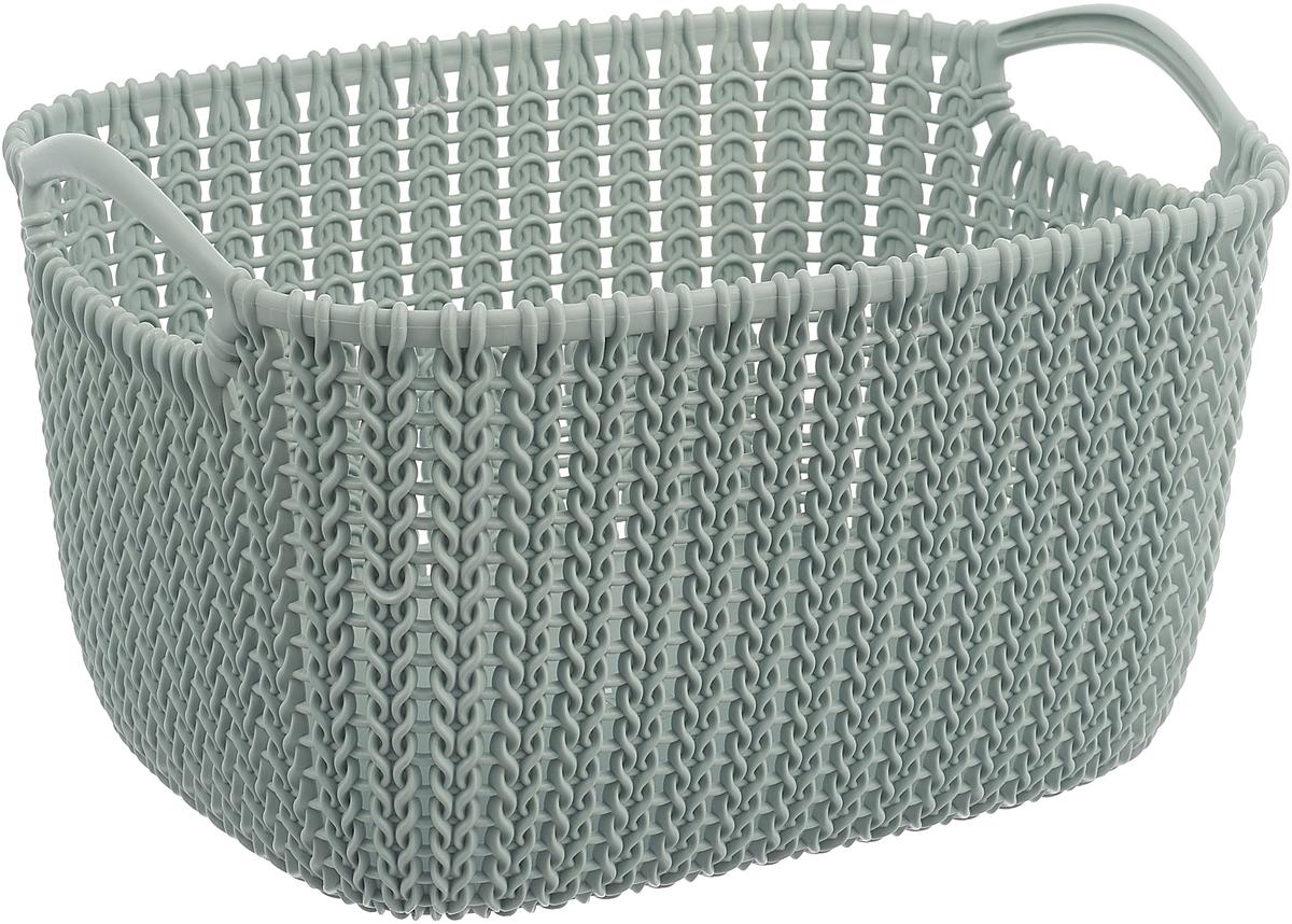 Корзина универсальная Curver Knit, цвет: серый, 8 л корзина для белья curver knit цвет серый 57 л