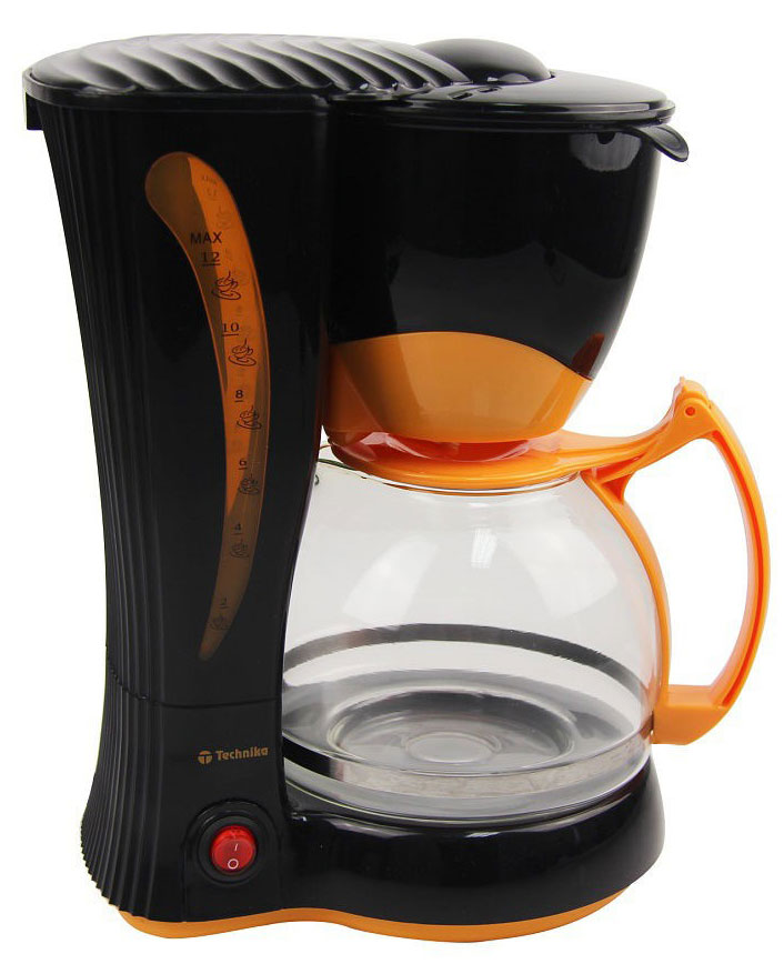 все цены на Кофеварка капельная Technika 7901, Black, Orange онлайн
