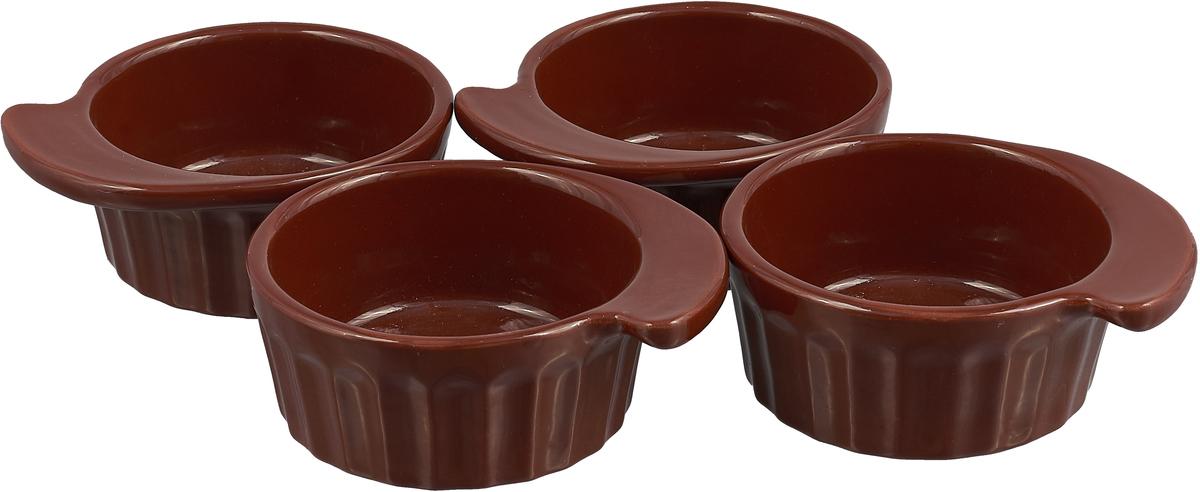 Кокотница Борисовская керамика Ностальгия, 200 мл, 4 шт. ОБЧ14458080 кокотница борисовская керамика ностальгия цвет оранжевый 200 мл рад14457899