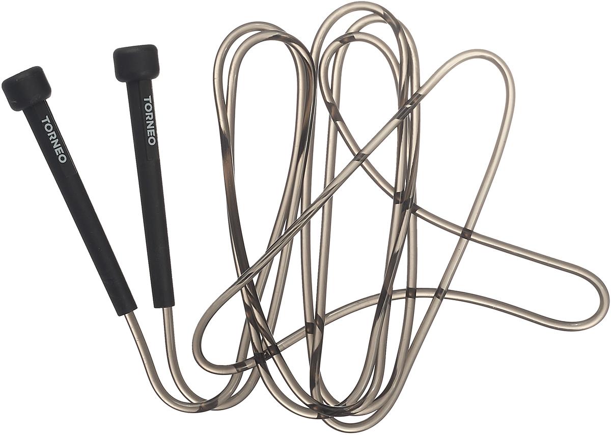 Скакалка скоростная Torneo, цвет: черный, длина 310 см