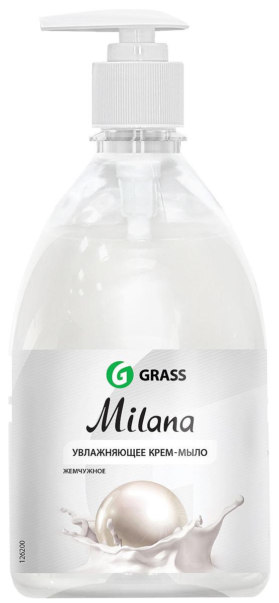 Жидкое крем-мыло Grass Milana. Жемчужное, с дозатором, 500 мл жидкое крем мыло grass milana жемчужное с дозатором 500 мл
