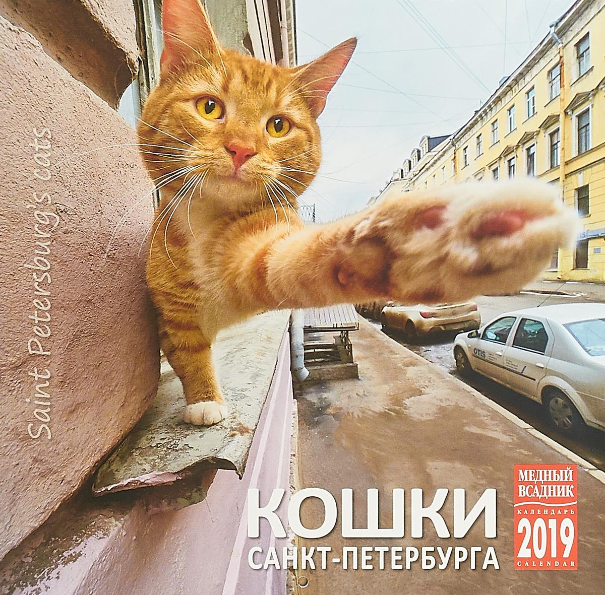 Календарь на спирали на 2019 год. Кошки Петербурга календарь на спирали на 2019 год стражи санкт петербурга