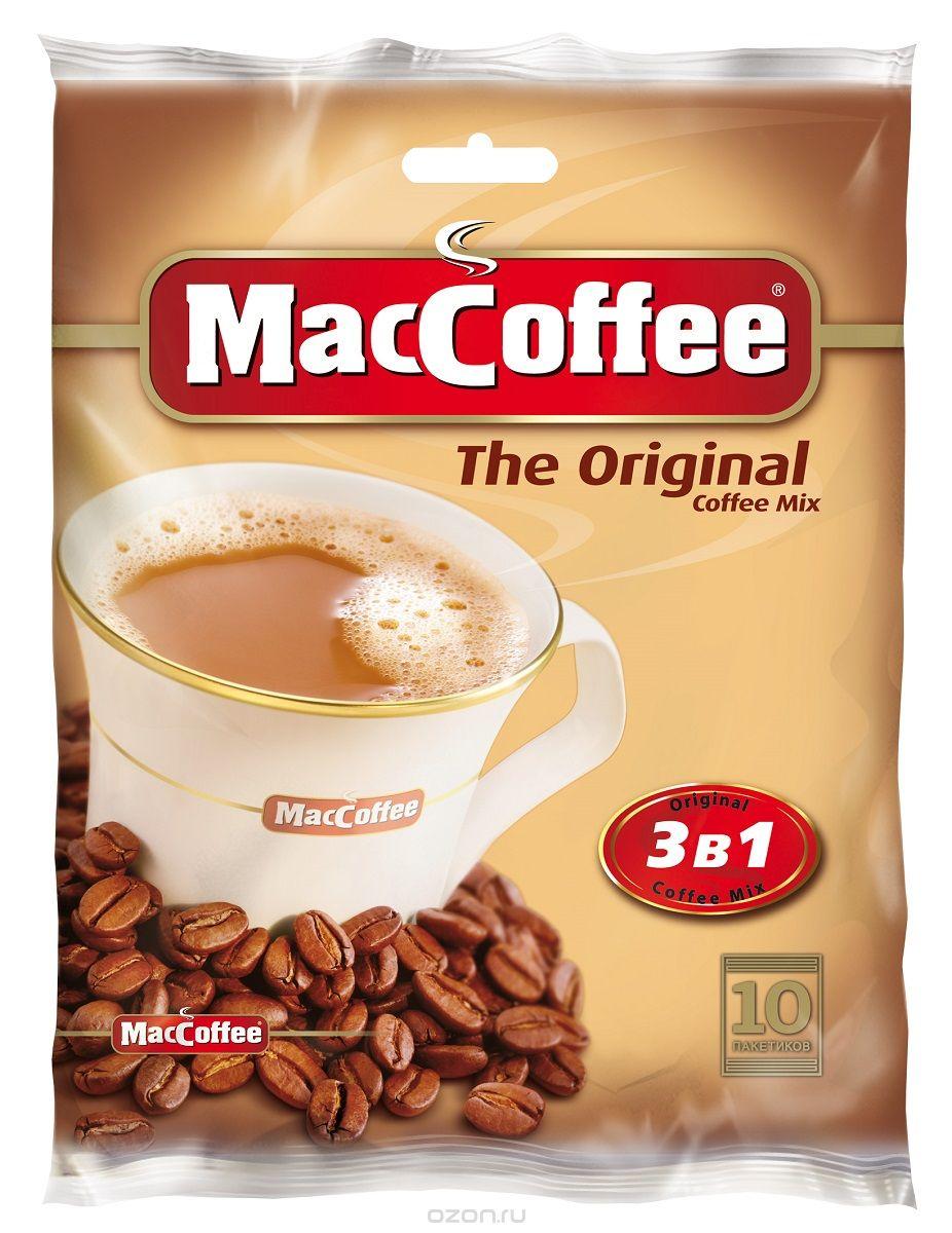 Фото - MacCoffee кофейный напиток 3 в 1, 10 шт массoffee 3 в 1 original кофейный напиток 5 шт