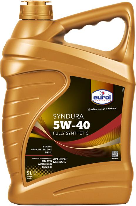 Масло моторное Eurol Syndura 5W-40 SN/CF MB 229.5, синтетическое, 5 л