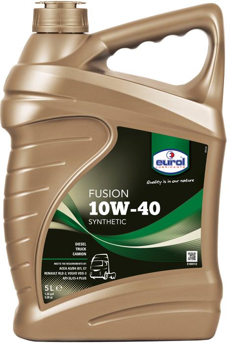 Масло моторное Eurol Fusion 10W-40 Synthetic SL/CI-4, полусинтетическое, 5 л моторное масло mobil ultra 10w 40 4 л полусинтетическое