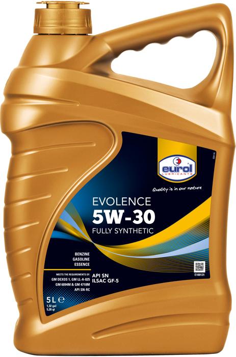 Масло моторное Eurol Evolence 5W-30 SN/GF-5, синтетическое, 5 л цена