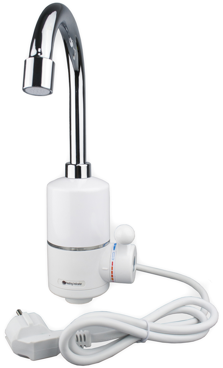 Водонагреватель проточный PROFFI ClASSIC, механическое управление, с термостатом, 3000 Вт, белый, серебристый