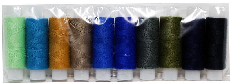 Набор швейных ниток ПНК им. Кирова, цвет: разноцветный, 150 м, 10 шт.