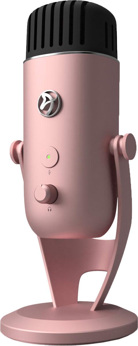 Микрофон для стримеров Arozzi Colonna, Rose Gold аксессуары для микрофонов радио и конференц систем invotone mpf100