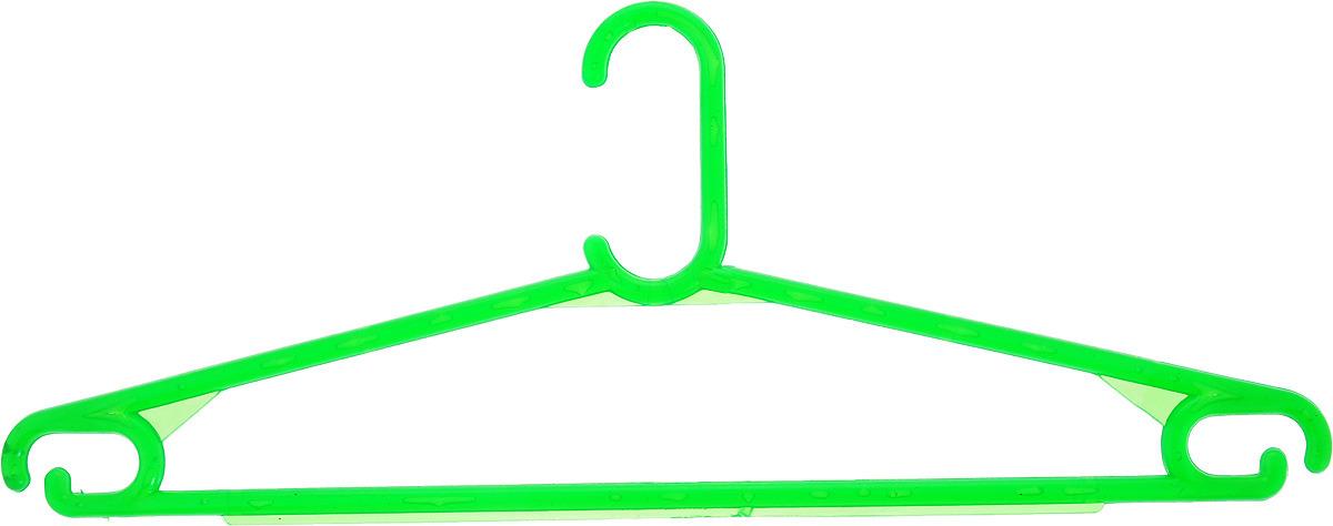 Вешалка для одежды, цвет: зеленый, длина 40 см цена